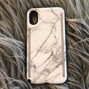 LuMee Duo Marble iPhone X/XS Case